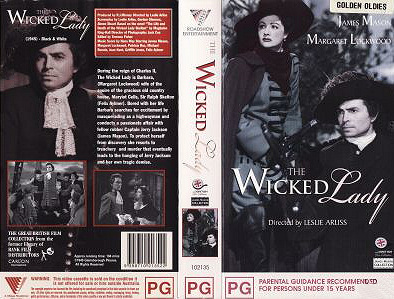 Australian video cover from The Wicked Lady (1945) (1)