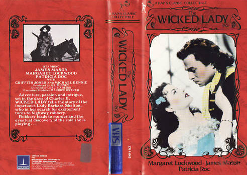 Australian video cover from The Wicked Lady (1945) (2)
