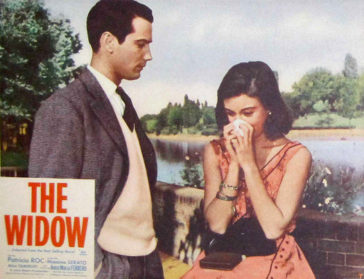 Lobby card from The Widow (1959) (1)