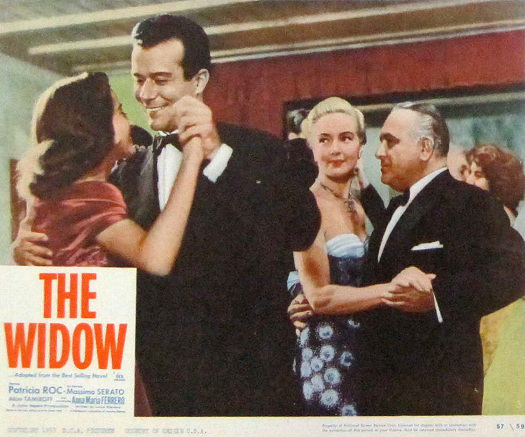 Lobby card from The Widow (1959) (5)