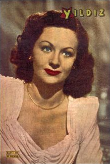 Yildiz magazine with Margaret Lockwood.  1948.  (Turkish)